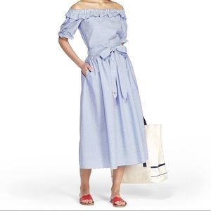 Vineyard Vines Target striped midi flowy skirt